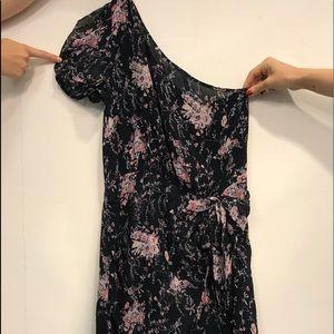 One-shoulder Floral mini dress